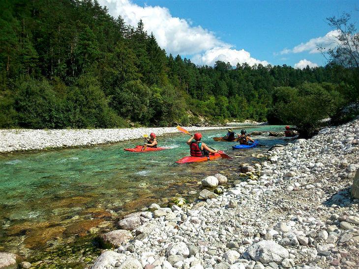 kayaking while visiting Slovenia