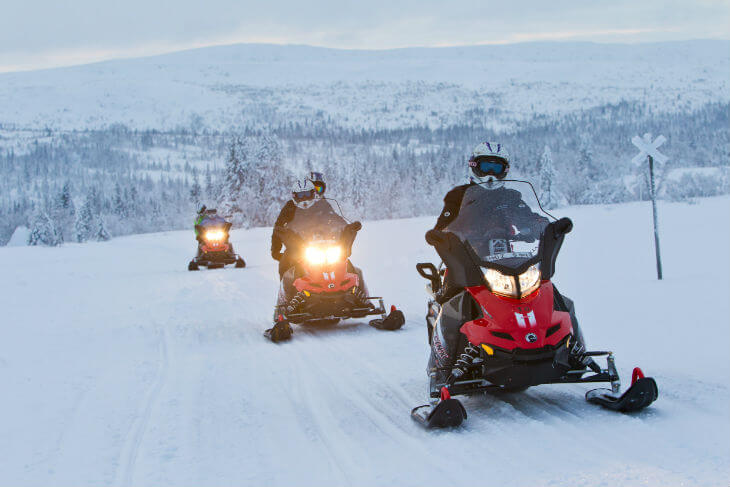 snowmobile - things to do in sweden
