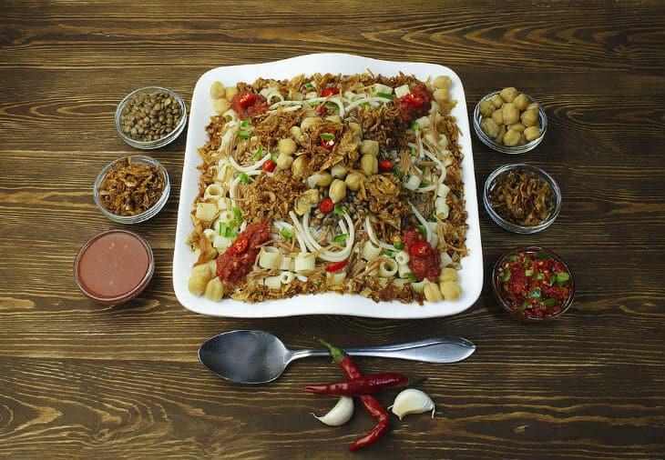egyptian food kushari