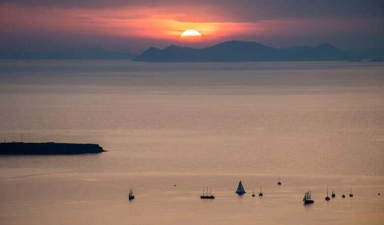 solnedgång santorini