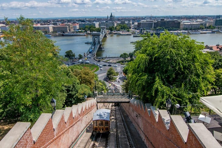cable car buda castle