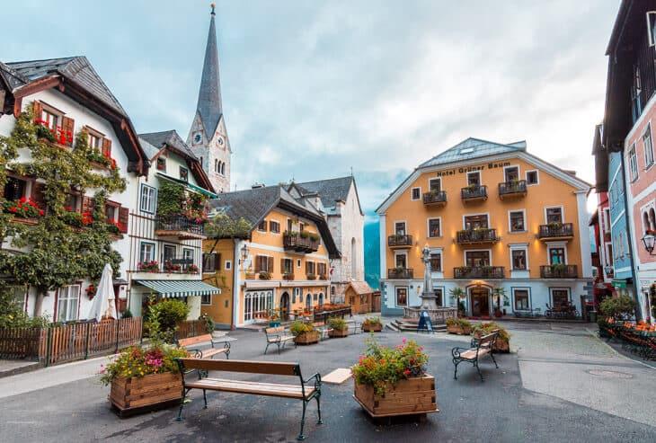 Old town square in Hallstatt