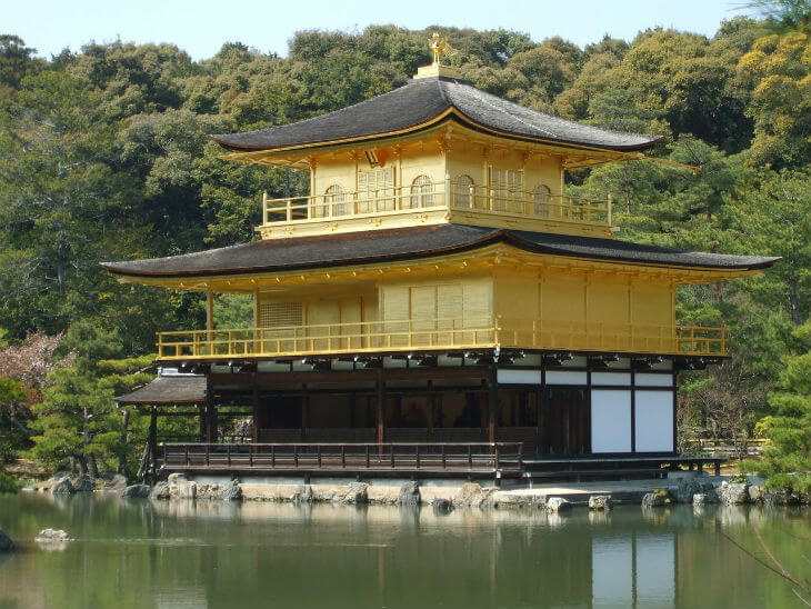 Kinkakuji tourist attraction in Japan