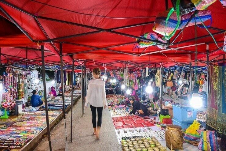 Night market Laos LP