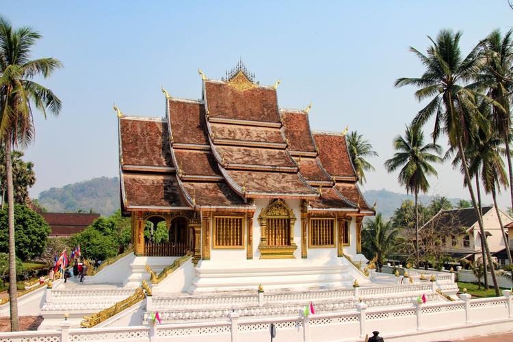 Buddhist tempel i Luang Prabang