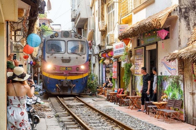 Gamla kvarteren i Hanoi