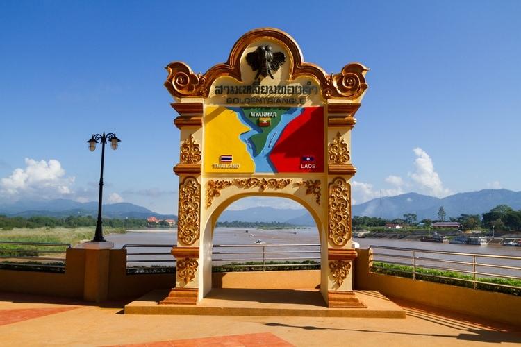 Gyllene triangeln i Chiang Rai