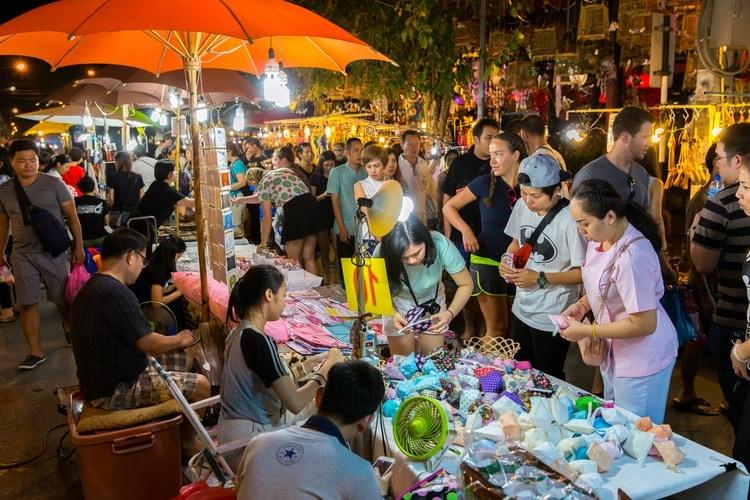 Marknad i Chiang Mai