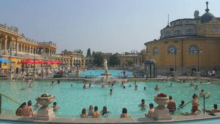 Szechenyi bath in Budapest
