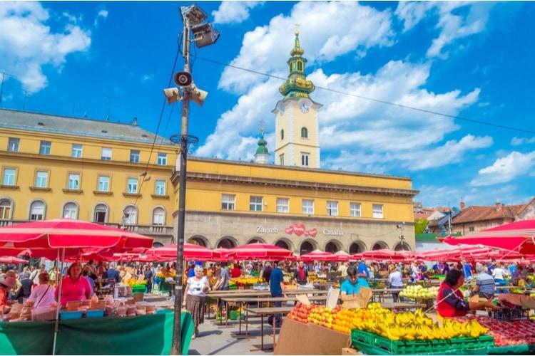 Marknad i Zagreb