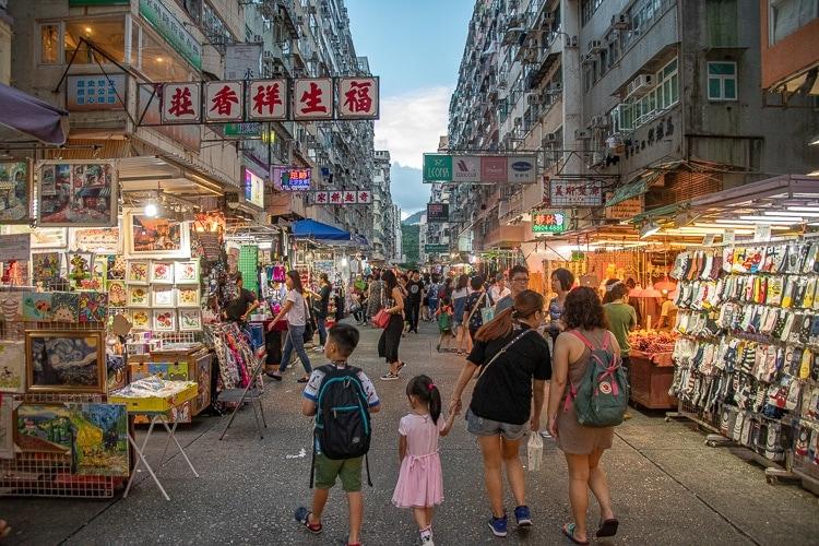 Marknad i Hong Kong