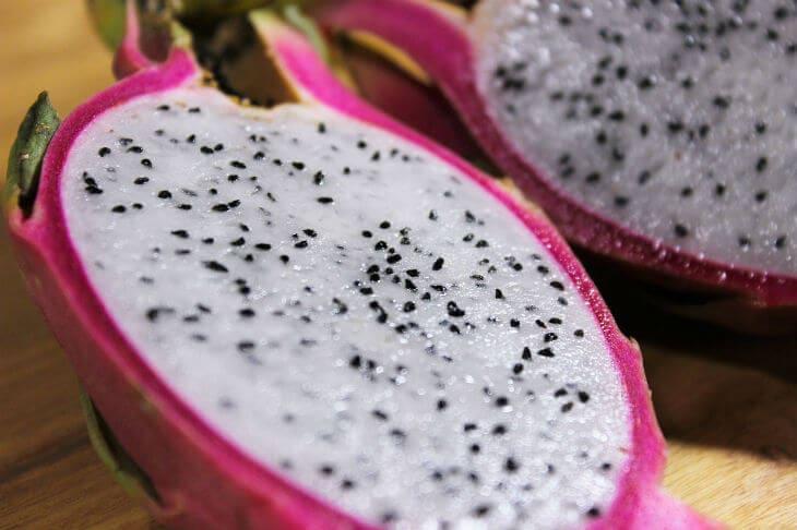 inside dragon fruit