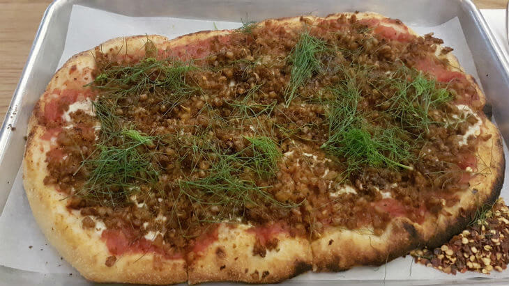 farro fennel pizza