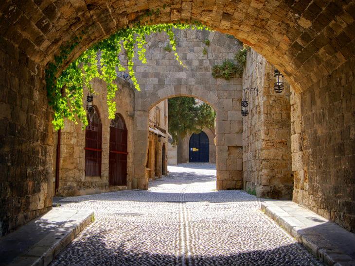 gamla stan i rhodos stad