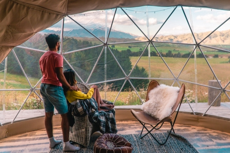 Glamping alternative to hotels