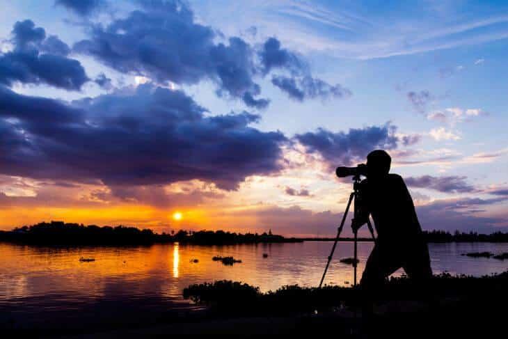 fota solnedgången