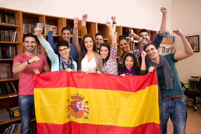 studenter på spansk språkskola