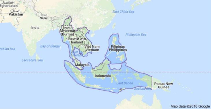 sydostasien karta