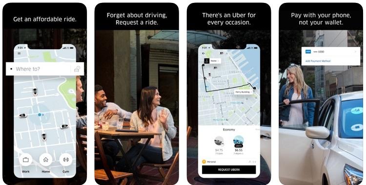 Uber app de transporte