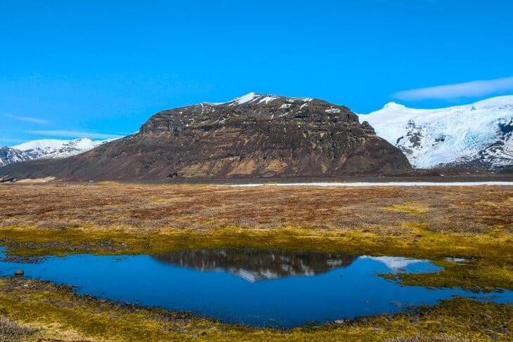 island vykort landskap