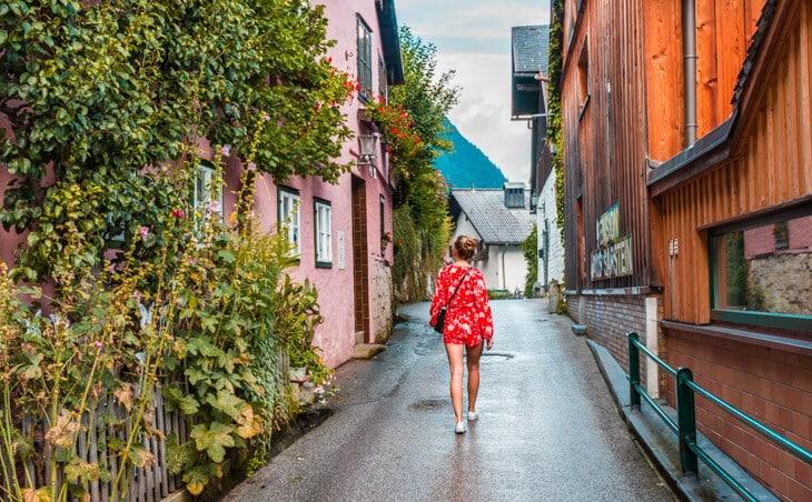 Street in Hallstatt