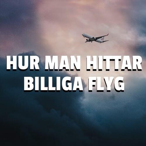 Hur man hittar billiga flyg