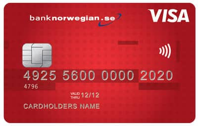 bank norwegian bankkort
