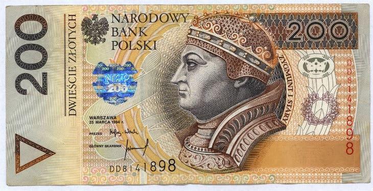 Polish zloty banknote