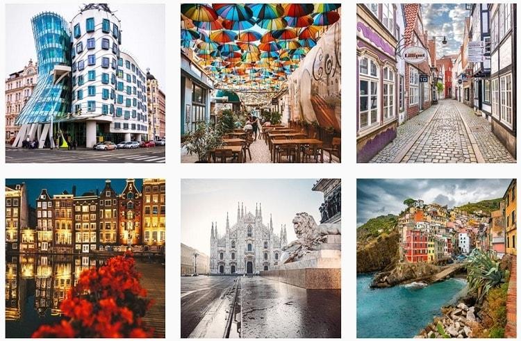 Best travel instagrammers