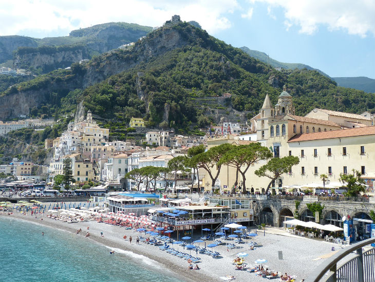 amalfi i södra italien