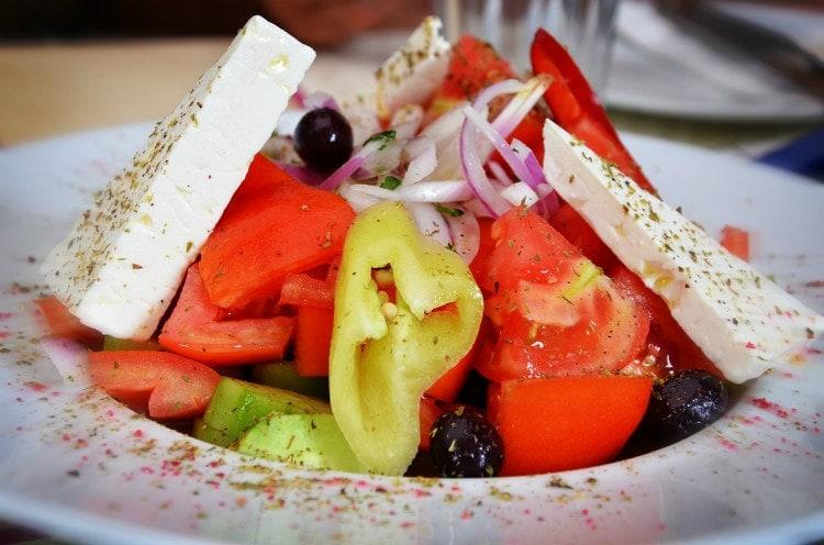 rhodos priser grekisk sallad