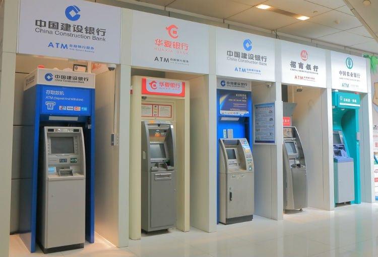 bankomater i kina