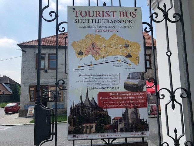 shuttle bus from Kutna Hora to Sedlec Ossuary