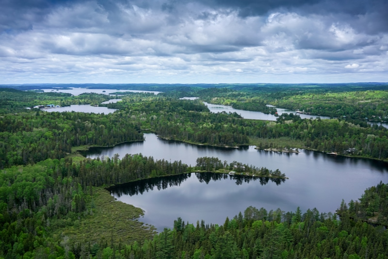 Canadian wilderness seen from above