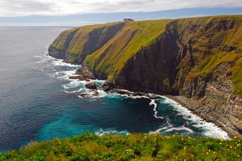 Coastal cliffs in Canada