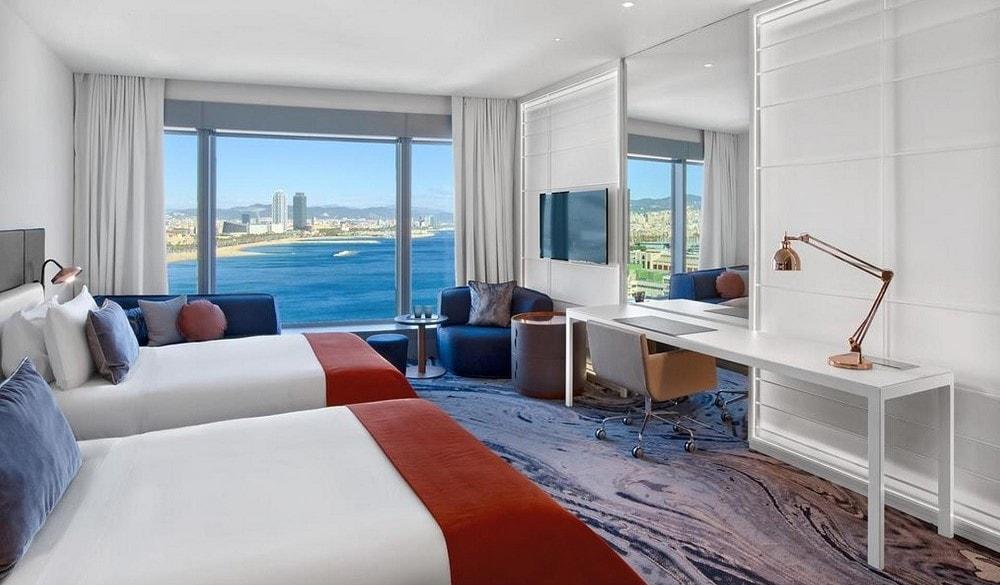 W Hotel Barcelona bedroom