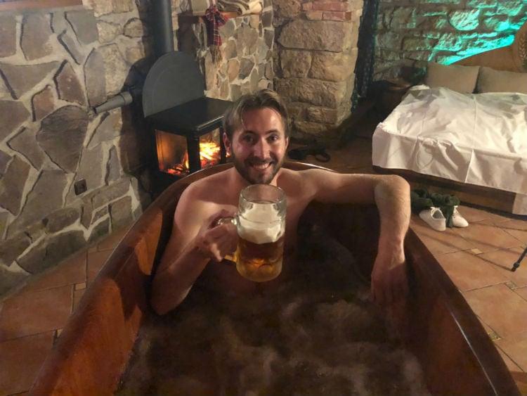 beer bath experience