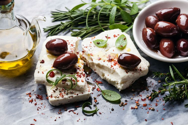 feta cheese - typical greek food