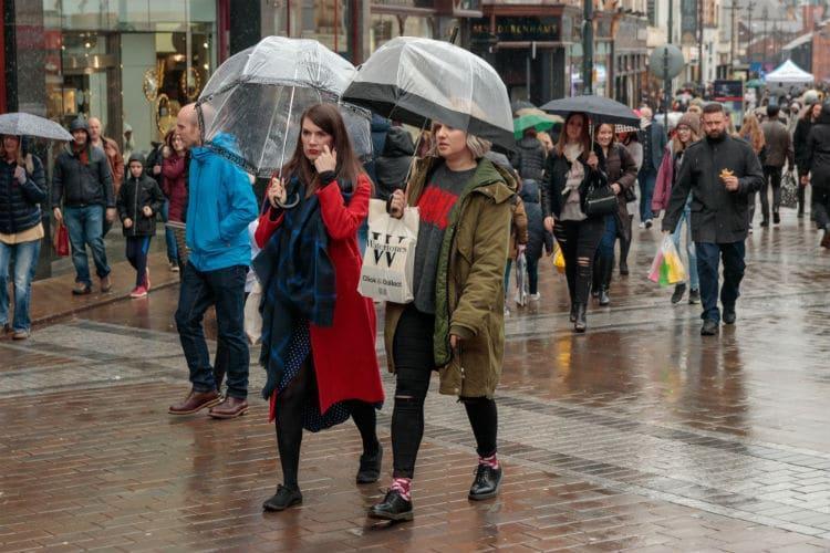 leeds rainiest city in england