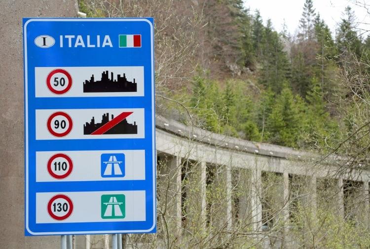 hastighetsgräns i Italien