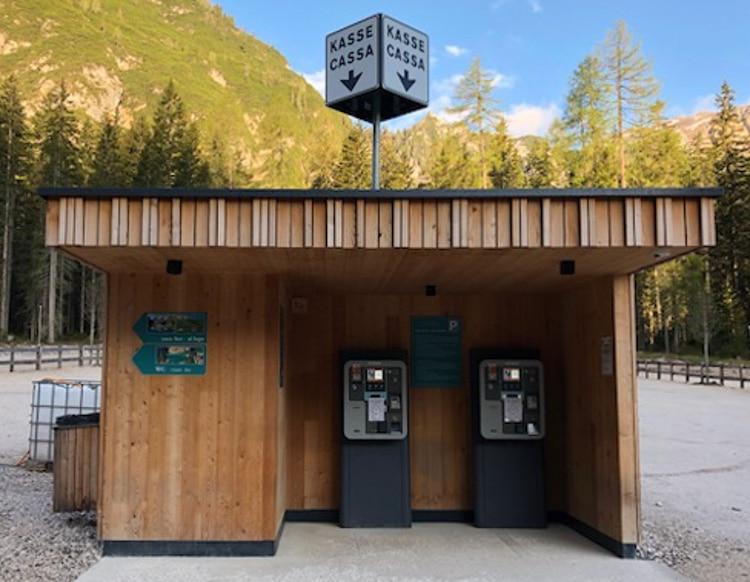 cash machine parking lot lago di braies