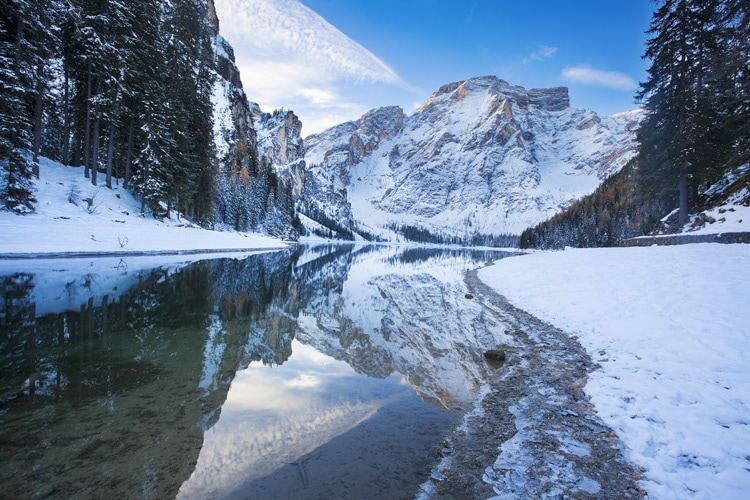 Lake Braies winter