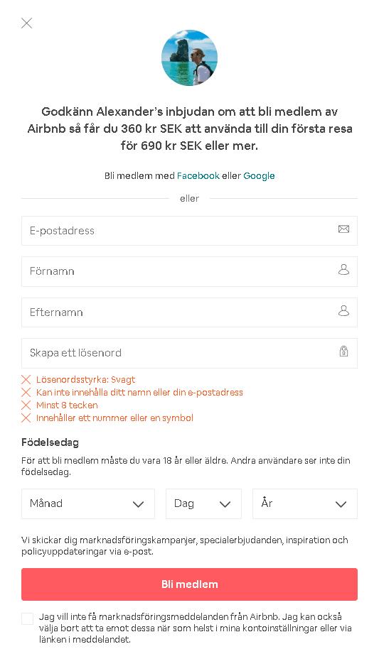 airbnb kupongkod