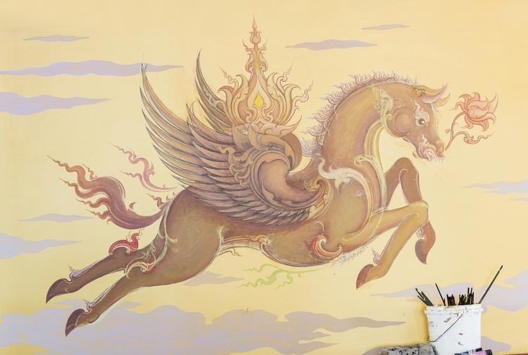 mural inside wat rong khun