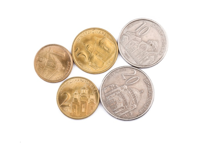 serbiska mynt
