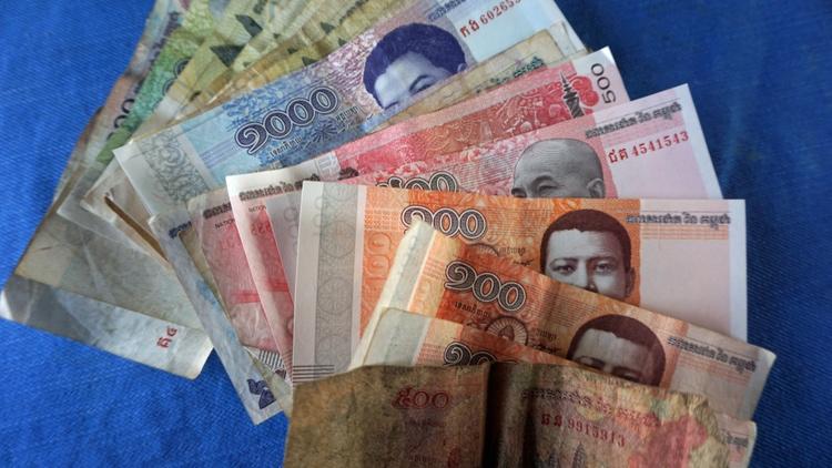 la moneda de Camboya (KHR)