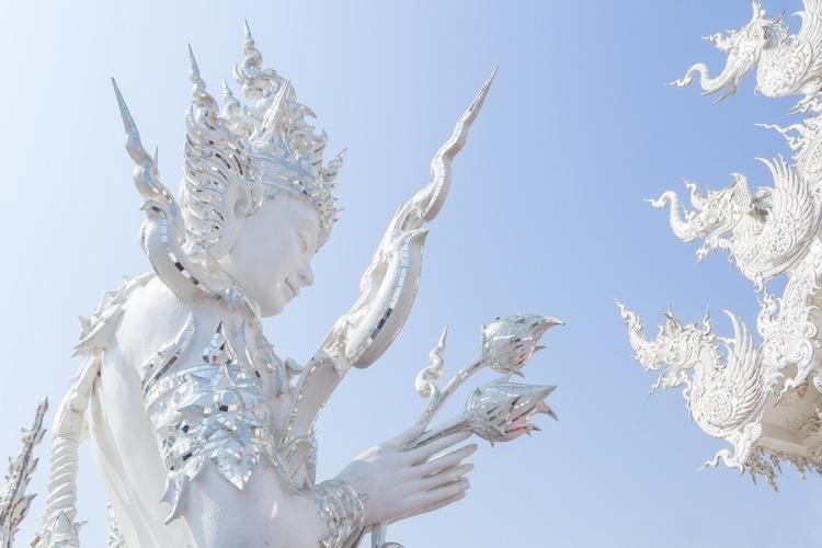 white temple statue