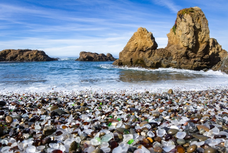 Glass Beach - Unique places to visit in the United States