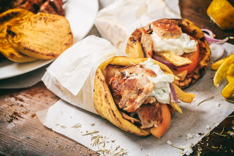Gyro - traditional greek fast food