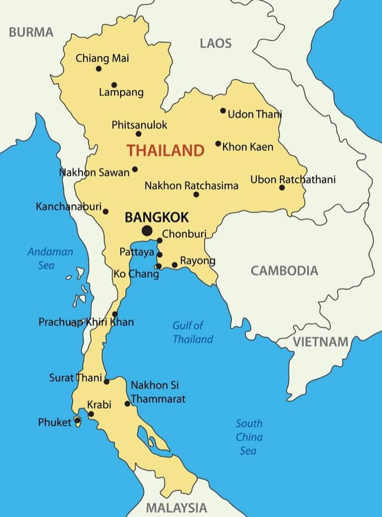 Thailand karta